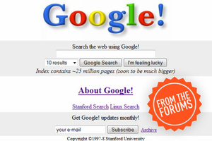 Google search page original