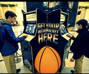 Photo of a March Madness bracket printer from the NCAA March Madness Men's Basketball Facebook page. 