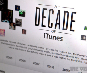 Decade of iTunes anniversary 
