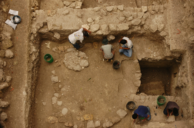 Gallery Photo: Excavation of Ceibal ruins