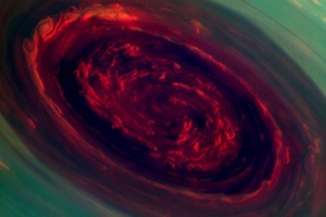 NASA Cassini Saturn storm image (Credit: NASA/JPL-Caltech/SSI)