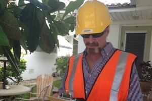 John McAfee in disguise (Credit: John McAfee/Slashdot)