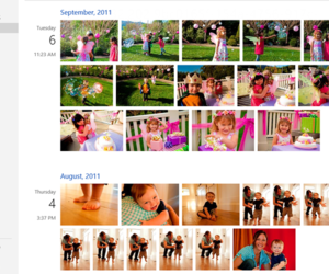 SkyDrive photo timeline
