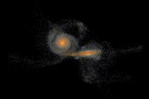 Galaxy merger animation (Credit: C. Hayward, Heidelberg Institute for Theoretical Studies, Germany)
