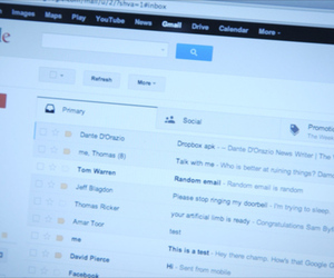 Gmail tabbed interface lede