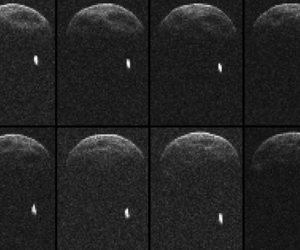 Asteroid 1998 QE2 with moon (credit: NASA/JPL-Caltech/GSSR)