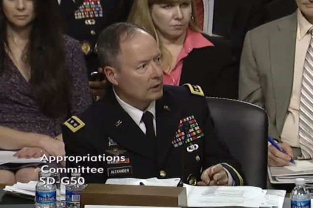 NSA director Gen. Keith Alexander (Credit: Senate Appropriations Committee)