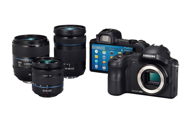 samsung announces galaxy nx android powered interchangeable lens samsung announced the galaxy express for europe asia 640x426