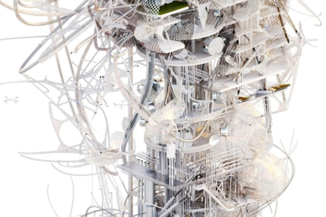 London spiderweb pollution eating power Synth[e]tech[e]cology (Credit: Royal College of London)