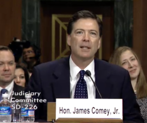 FBI dir nominee James Comey testifies (Credit: Senate Judiciary Committee)