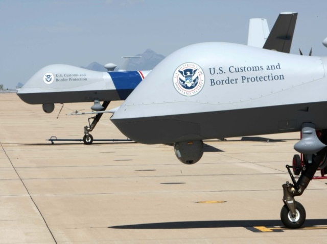 Border Patrol Drones on runway - Gerald Nino / CPB