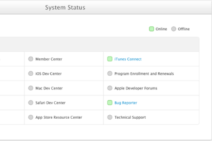 apple developer system status