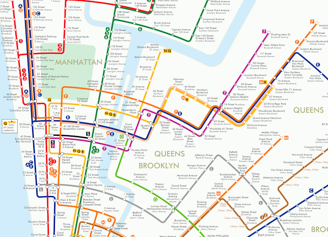 nyc subway circle design
