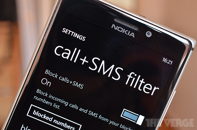 windows phone Sms call blocking