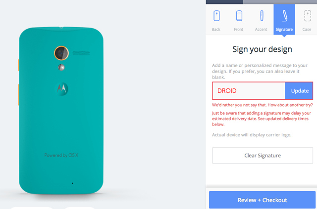 Moto X Customization