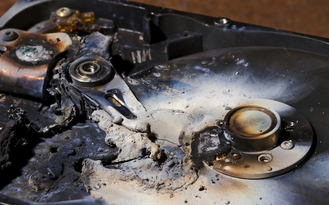 destroyed hard drive (SHUTTERSTOCK)