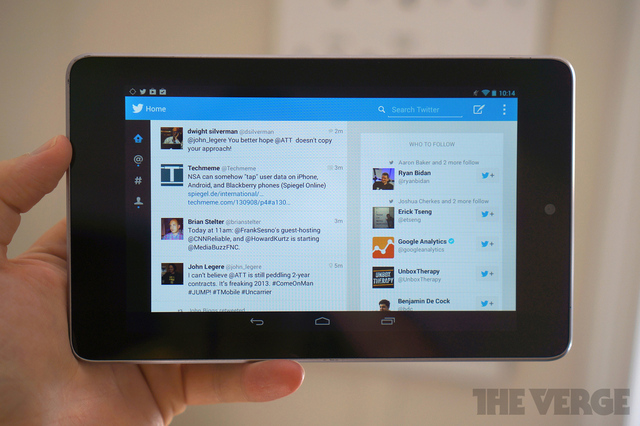 Twitter for Android tablets