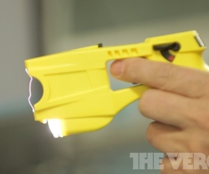 yellow taser