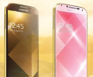 Samsung counters iPhone 5S with a golden Galaxy S4