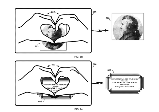 Google hand gesture patents