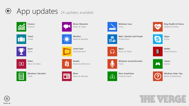 Windows 8.1 updates