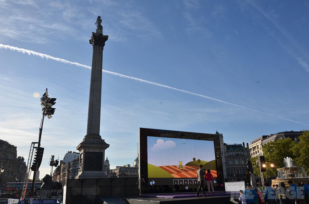 Surface 2 in Trafalgar Square