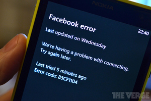 Facebook WP error