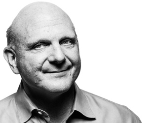 Steve Ballmer Black and White