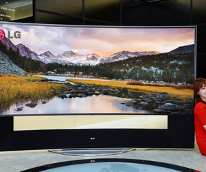 LG 105-inch curved Ultra HD television