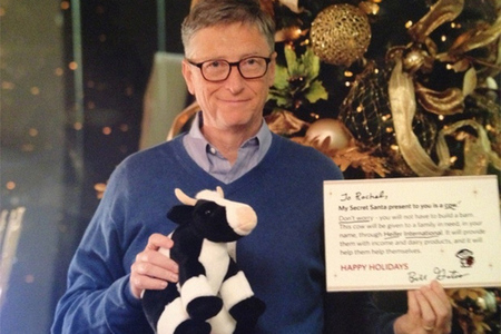 Bill Gates secret santa