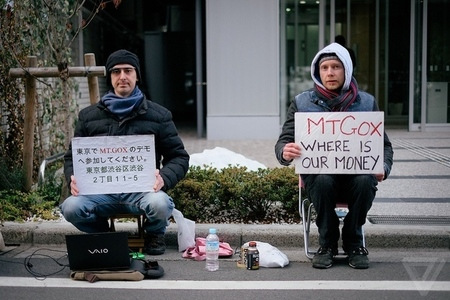 mt gox hq bitcoin protest