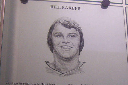 Bill Barber's Hall of Fame plaque. He basically looks the same today, actually.
