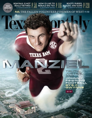 Johnny Manziel is flying high on magazine cover.