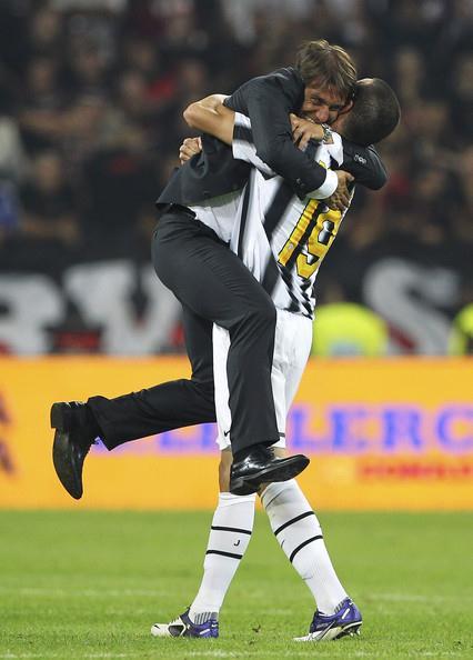 ...he didn't have time to hug Bonucci.