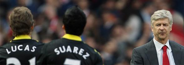 Arsene Wenger lucas sore loser arsenal liverpool