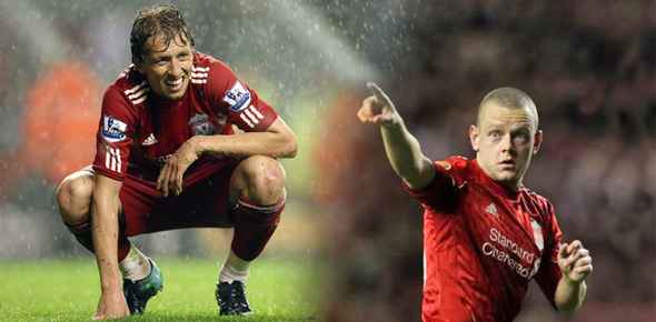 Lucas Leiva Jay Spearing liverpool