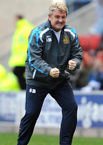 steve bruce celebrate