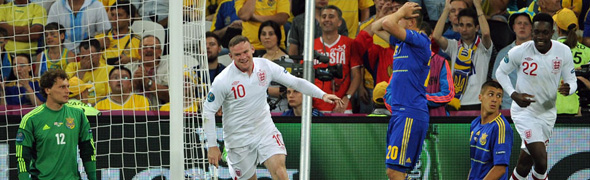 rooney england ukraine celebrate