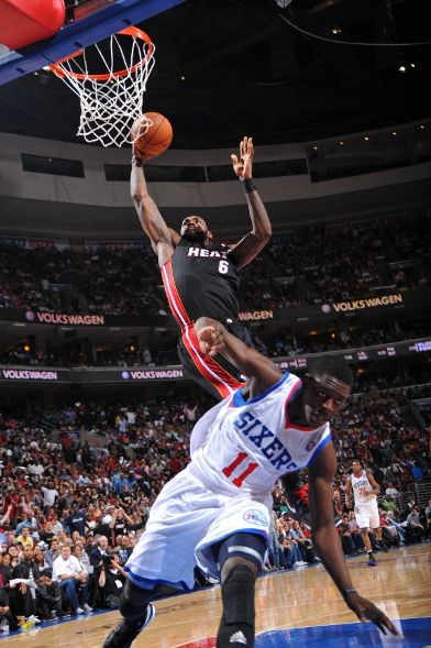 LeBron James Miami Heat Philadelphia Sixers
