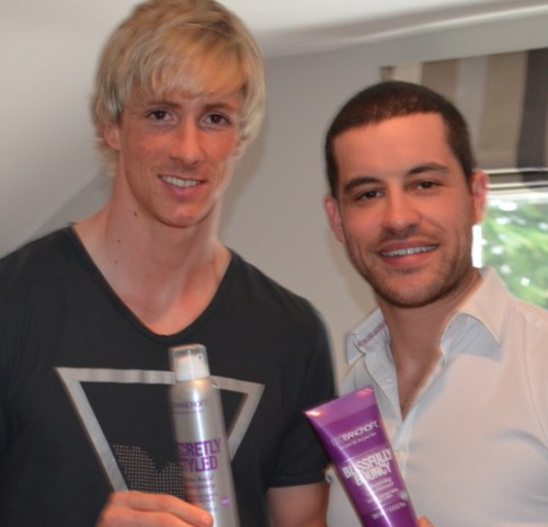 Fernando-Torres-hair-blond-highlights-London-British-hairdressers-500x481