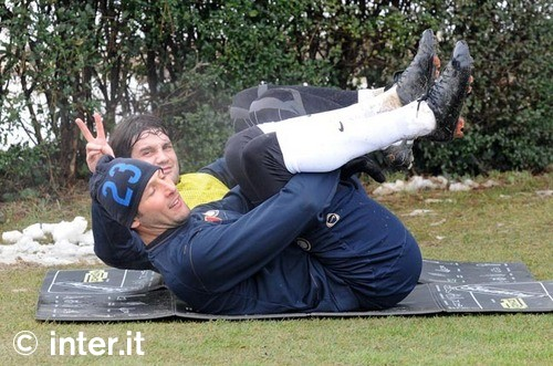Marco and Chivu BFF