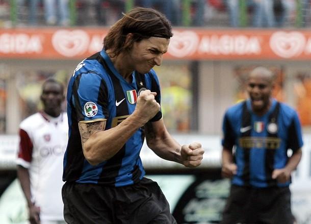 Ibra scores his second against Reggina