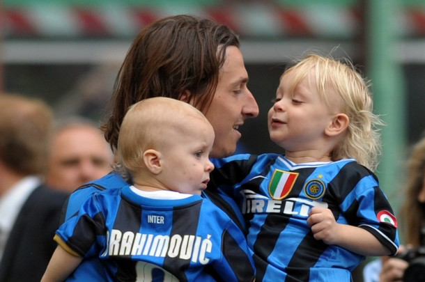 Zlatan with his sons - awwwww