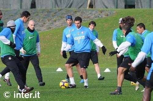 Training before the Fiorentina match