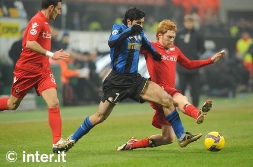 Figo against Cagliari