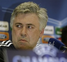 Carlo Ancelotti gives the stink eye
