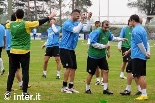Training before Lazio