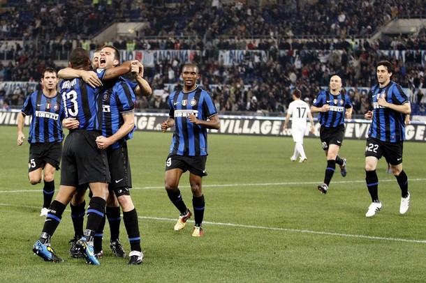 Thiago Motta scores against Lazio