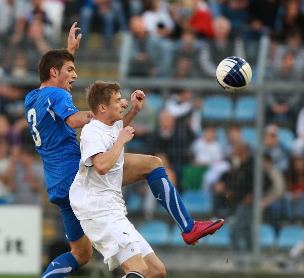 Santon with Italy U21