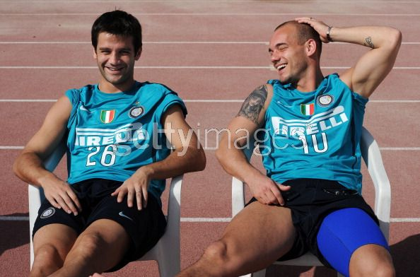 Wes and Chivu hangin